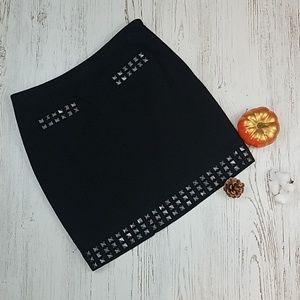 I•N•C Metallic Stud Mini Skirt